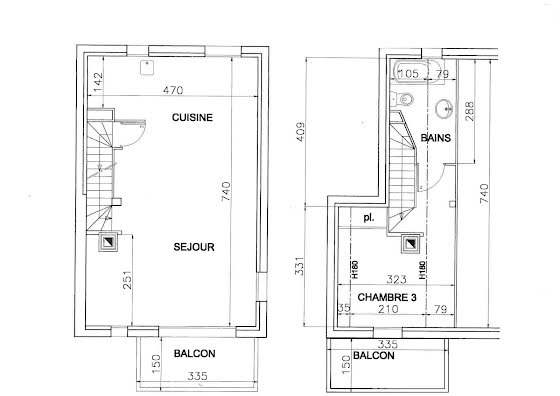 Vente chalet 4 pièces 81,85 m2