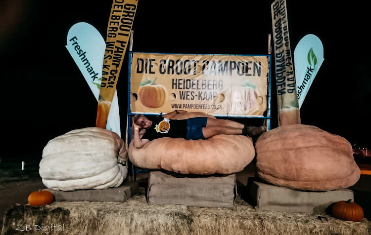 The 33-year-old winner said he saw big pumpkins in Heidelberg next to a road when they were placed there after the festival and he developed an interest.