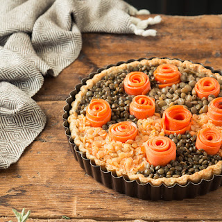 Lentil & Carrot Tart with Lentil Crust