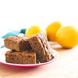 Vegan Lemon Poppy Seed Protein Squares
