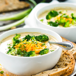 Crock-Pot Broccoli Cheese Soup.
