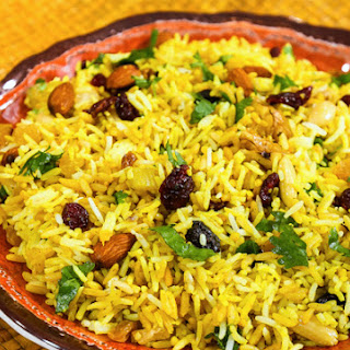 Almost-Instant Fruit and Nut Rice Pilaf.