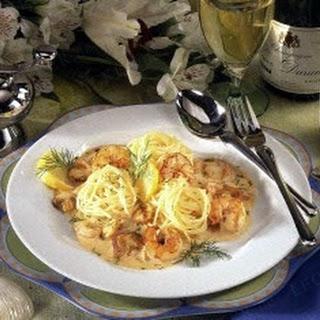 Spaghetti in Champagner-Sahne-Soße