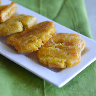 Tostones ( Twice fried plantains).