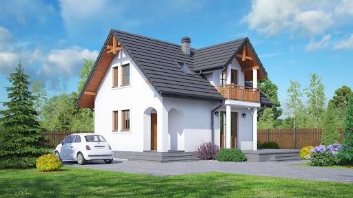 projekt domu Grabie małe