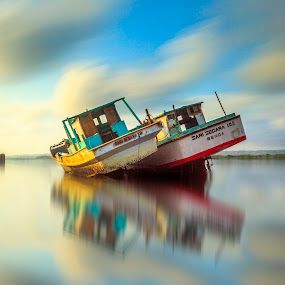 Couple by Ade Irgha - Transportation Boats ( visit bali, boats, beach )