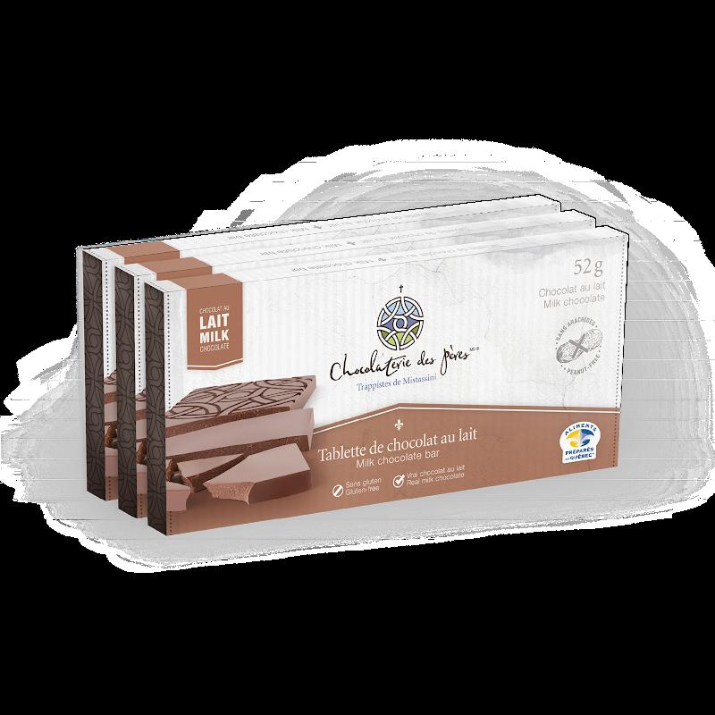 tablette de chocolat au lait tablette de chocolat au lait chocolaterie des p res. Black Bedroom Furniture Sets. Home Design Ideas