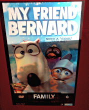 Photo: Here it is My Friend Bernard, if you look closely you can see previous movie slides behind this one.