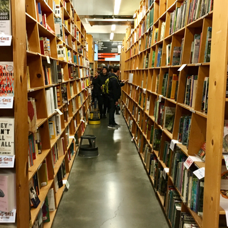 The stacks at Powell's City of Books.