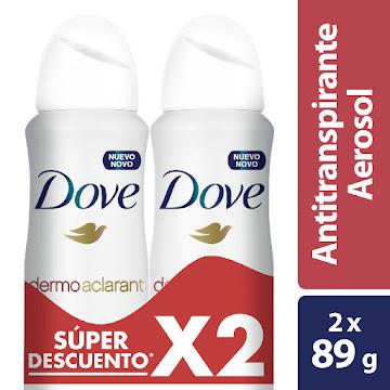 Desodorante Aerosol Dove   Dermo Aclarant 2 Unidades x89G