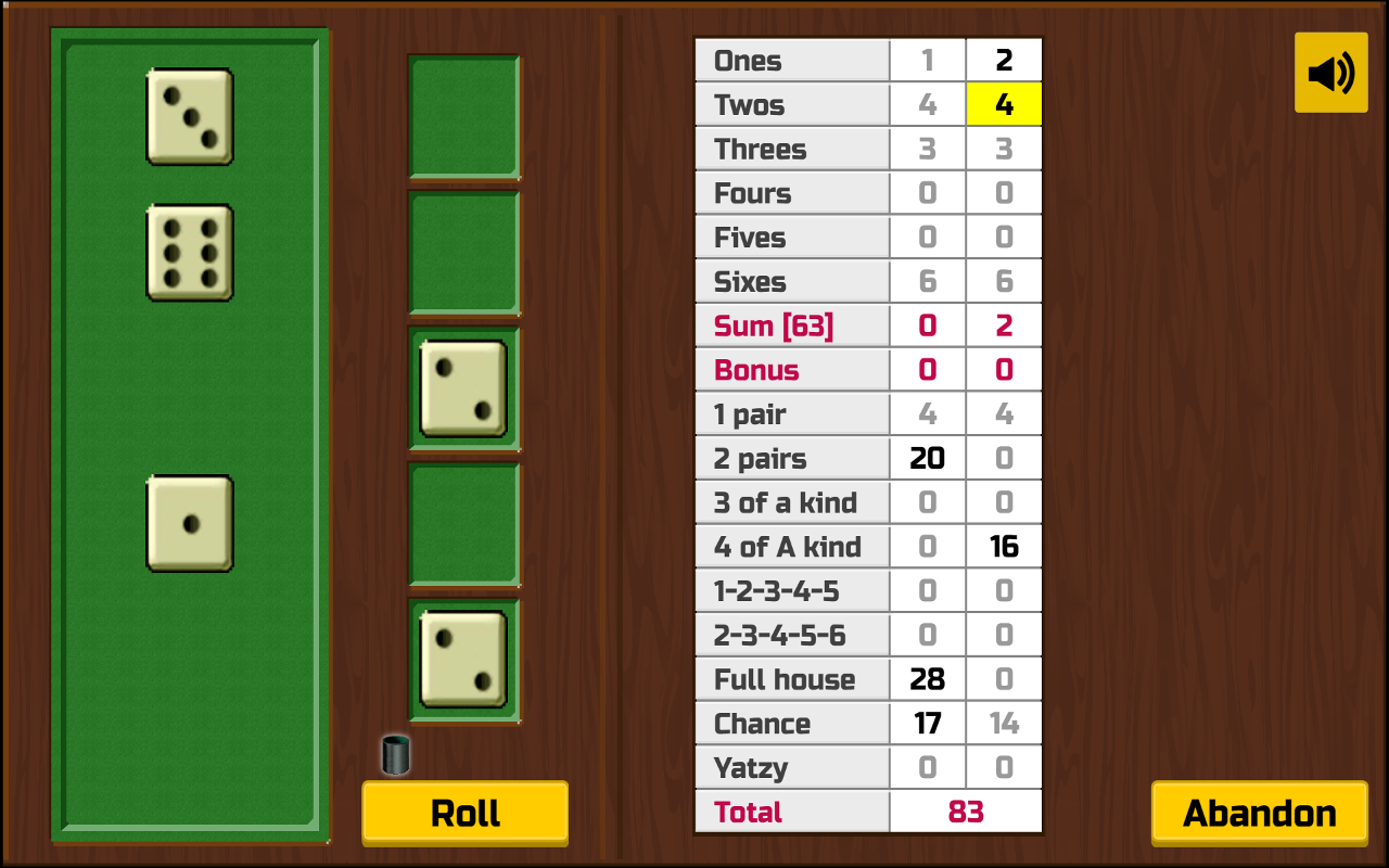 Yatzy Solitaire Lite- screenshot