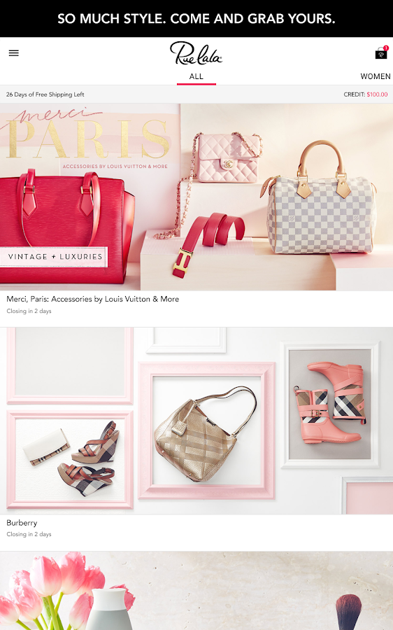 Rue La La-Shop Designer Brands - screenshot