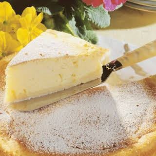 Baked Fromage Blanc Cake.