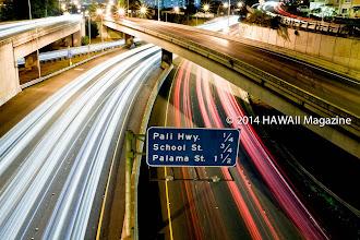 Photo: ABSTRACT CATEGORY, FINALIST. H-1 Freeway near downtown Honolulu, Oahu. Photo by Mike Krzywonski, Haleiwa, Oahu, Hawaii.