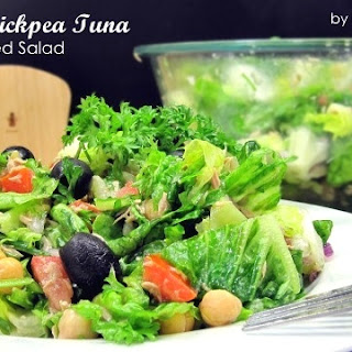 Romaine Chickpea Tuna Chopped Salad (for South Beach Phase 1).