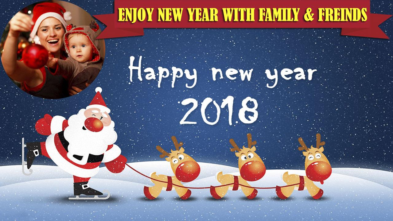 Newyear greetings card photo frames 2018 android apps on newyear greetings card photo frames 2018 screenshot kristyandbryce Gallery