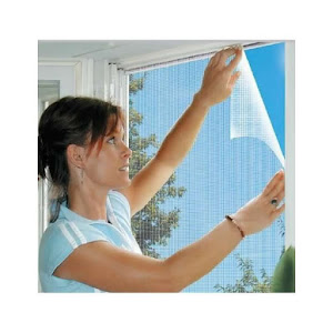 Set 3 x plasa antiinsecte fereastra + perdea magnetica usa