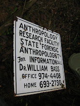 Photo: The entrance to the 'Body Farm'