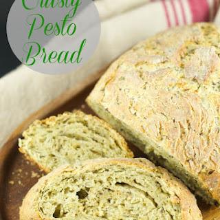 No Knead Pesto Bread.