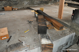 Photo: Picture # 6 showing 6x6 girder post that was never nailed.