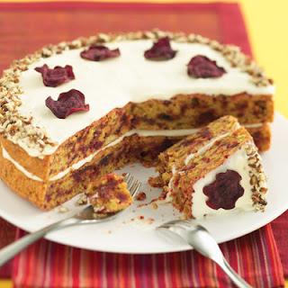 Beet Cake With Lemon Mascarpone Frosting.