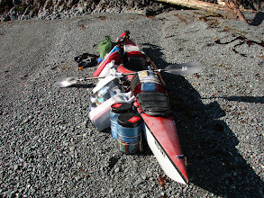 Photo: All my gear ready to be packed away in the kayak.