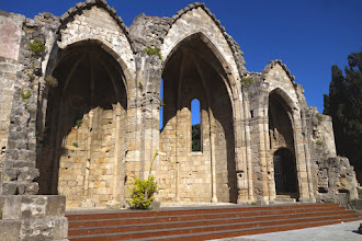 Photo: Remains of the buildings inside the fortress of the Knights of St John