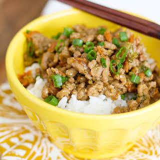 Teriyaki Turkey Rice Bowl.
