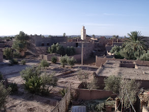 Photo: Early morning, looking across the town from the roof terrace of the place we stayed just out of Skoura.