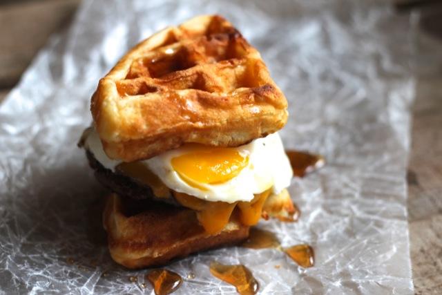 Waffle Breakfast Sandwiches Recipe