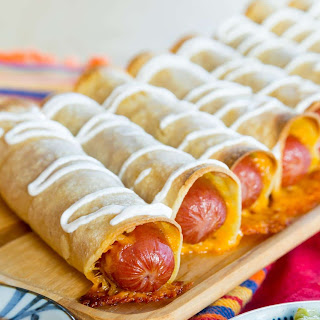 Cheesy Hot Dog Taquitos.
