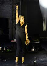 Photo: IM REICH DER TIERE von Roland Schimmelpfennig. Inszenierung: Roland Schimmelpfennig. Premiere 27. 2.2015.  Caroline Peters. Copyright: Barbara Zeininger