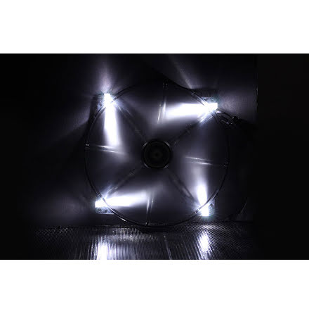 Bitfenix vifte m/hvit LED, Spectre, 200x20