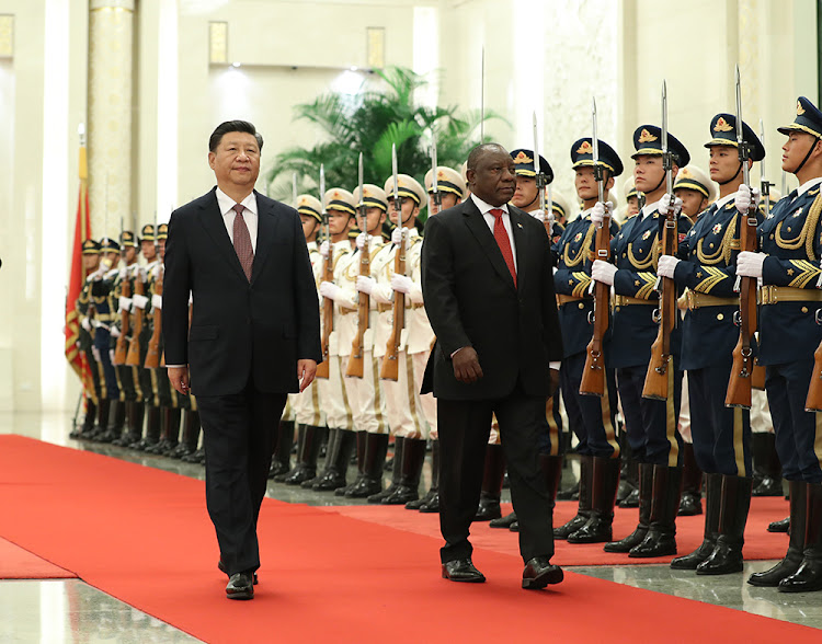 HE President Xi Jinping hosting the welcoming ceremony for HE President Cyril Ramaphosa in Beijing on September 2 2018. Picture: SUPPLIED