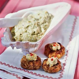 Crab Patties with Pistachio-Avocado Butter Recipe