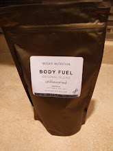 Photo: Moasic Nutrition Body Fuel Original Blend Unflavored  Order: June 12 Arrived: June 26  Taste Salty, Sour oatmeal  Texture warm: chunky, watery cold: thick and slimy with chunks  Fullness  pretty full for hours  Notes Interesting it lets you customize based on Gender, Age, Height, Desire to gain or lose, low carb or gluten free, and flavor.  Directions 8-12 ounces per scoop and 15 scoops a bag. I dislike the generic ness of it. I made with 14 cups of water.  Added more water after, still slimy.   I know this is my exgirlfriends favorite brand but I really don't see myself ever buying this brand again.  buy: https://mosaicnutrition.com/  About Me: http://amazonv.dreamwidth.org/67568.html  Project Tag: https://amazonv.dreamwidth.org/tag/soylent+experiment  Spreadsheet: https://docs.google.com/spreadsheets/d/1c_ceOFR7S_4qUiVcEG3ykQiSRpuc13PnmcraBwklDWg/edit#gid=0  Photos: https://plus.google.com/photos/104379818983119483801/albums/6137295043742319505  Writeup: http://amazonv.dreamwidth.org/70879.html