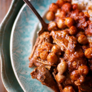 Curry Braised Lamb with Chickpeas.