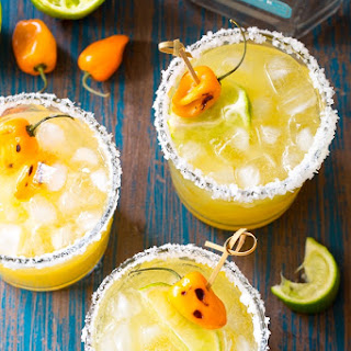 Spicy Pineapple Habanero Margaritas.