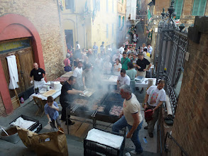 Photo: Busy Giant BBQ grill