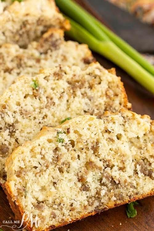 "Greek Yogurt Cheesy Sausage Quick Bread Recipe""Easy, tasty, and hearty, Greek Yogurt..."