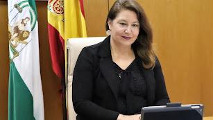 Carmen Crespo durante su intervención en Investagua.