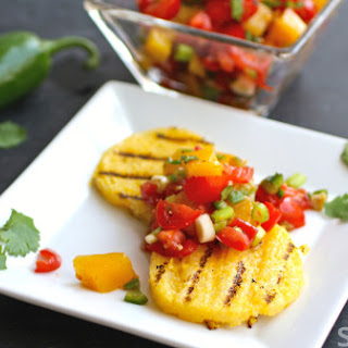 Grilled Polenta With Tomato-mango Salad