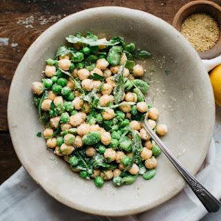 Chickpea Bean Bowl W/ Toasted Breadcrumbs + Dill Tahini (gf + V)