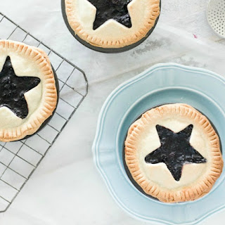 Mini Blueberry Pies with Star Cut Outs