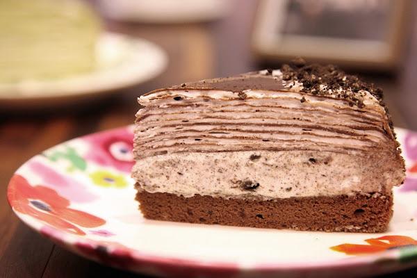 福米cafe~OREO巧克力雙享千層!千層蛋糕新食感