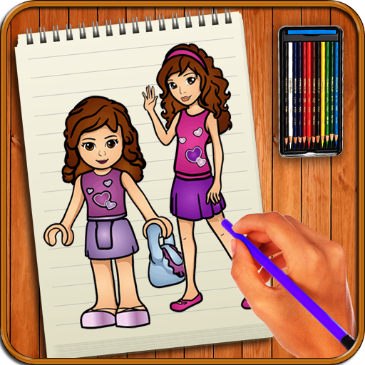 Learn To Draw Lego Friends Characters