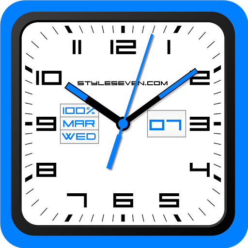 Square Analog Clock-7 - Apps on Google Play