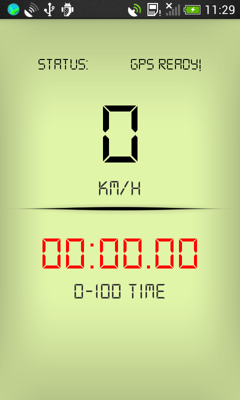Digital GPS speedometer app for Android on Google Play