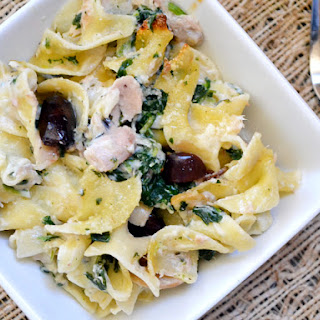 Tuna Noodle Casserole with Olives & Spinach Recipe