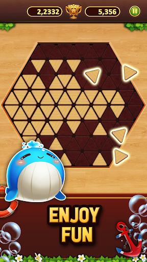 Trigon Wood: Triangle Block Puzzle screenshot 3